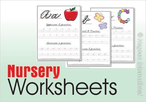 Worksheets for Nursery | School Of Educators