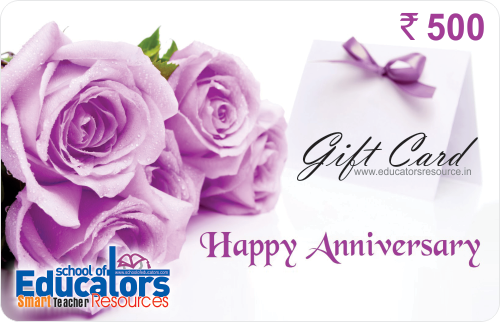Marriage anniversary gift card for teachers school of educators
